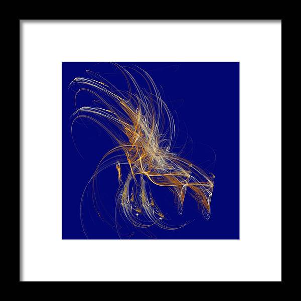 Digital Framed Print featuring the digital art Day Fireworks by Thomas Smith
