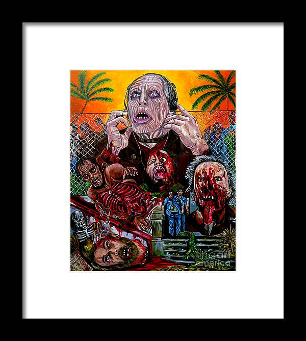 Day Of The Dead Framed Print featuring the painting Day Of The Dead by Jose Mendez