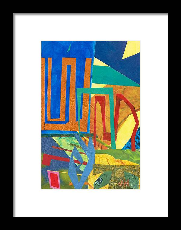 Abstract Art Framed Print featuring the mixed media Day Tripper by Jerry Hanks