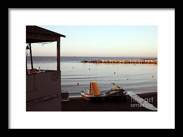 Daybreak At The Sea Framed Print featuring the photograph Daybreak At The Sea by John Rizzuto