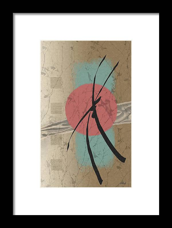 Contemporary Asian Japanese Oriental Abstract Sun Sunrise Sunset G Framed Print featuring the painting Daybreak by Gordon Beck