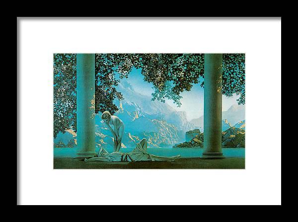 Maxfield Parish Framed Print featuring the painting Daybreak by Maxfield Parish