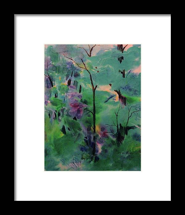 Landscape Framed Print featuring the painting Daybreak by Sharon K Wilson