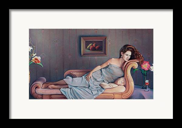 Chaise Framed Print featuring the painting Daydream Believer by Patrick Anthony Pierson