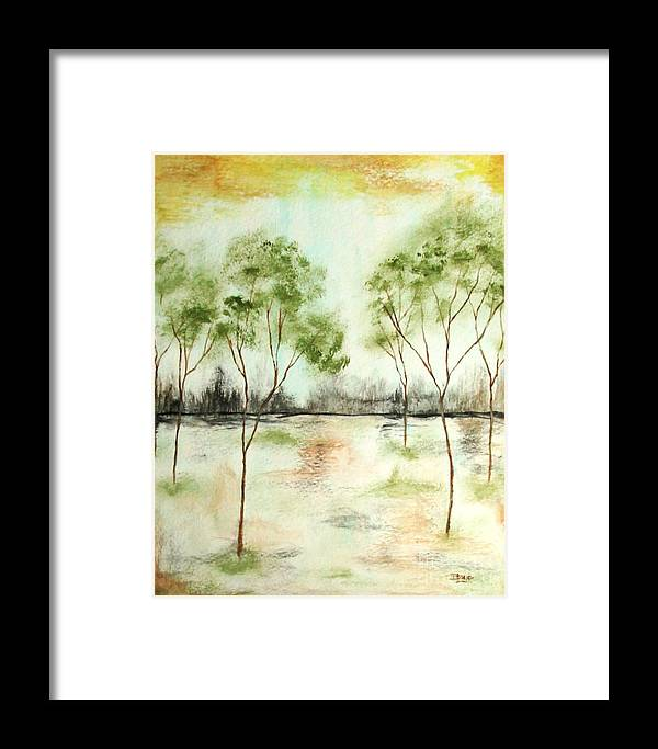 Abstract Framed Print featuring the painting Daydream by Itaya Lightbourne