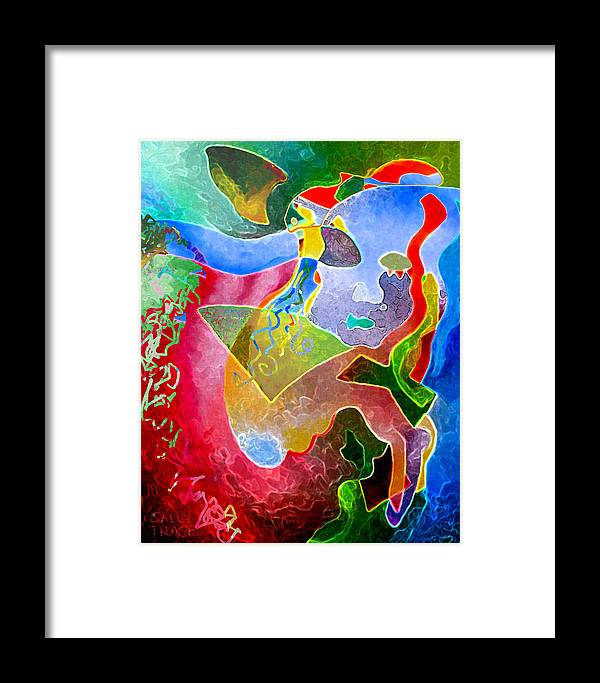 Coffee Framed Print featuring the painting Daydreams by Sally Trace