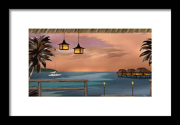 Contemporary Coastal Framed Print featuring the painting Days End by Gordon Beck