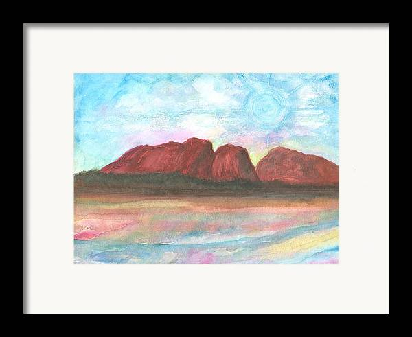 Daydreamscape Framed Print featuring the painting Daytime In Ozzz by Laura Johnson