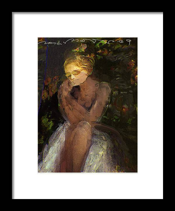 Portrait Framed Print featuring the painting De Jardin 2 by Noredin Morgan