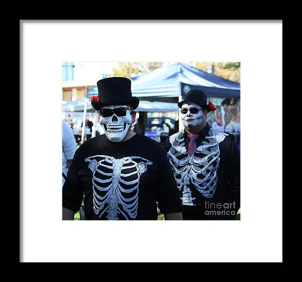 Dia De Los Muertos Framed Print featuring the photograph Dead Alive Skeletons by Chuck Kuhn