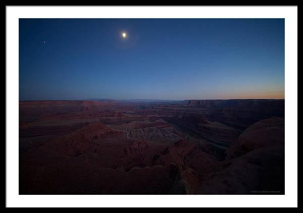 U.s.a. Framed Print featuring the photograph Dead Horse Point by Luigi Barbano BARBANO LLC