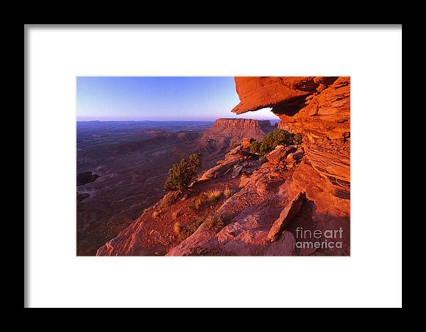 Dead Horse State Park Framed Print featuring the photograph Dead Horse Point Sunset by Sven Brogren