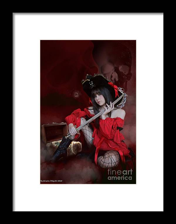 Pirate Framed Print featuring the digital art Dead Men Don't Lie by Crispin Delgado