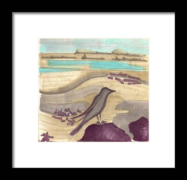 Framed Print featuring the painting Dead Sea by Popa Andreea