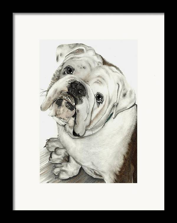 Pets Framed Print featuring the mixed media Dean' Buddy by Lisa Bell