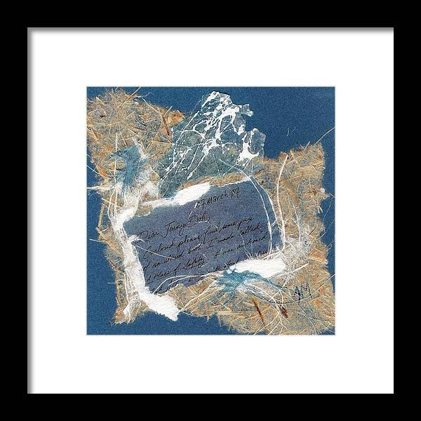 Framed Print featuring the painting Dear Jenny by Tara Milliken