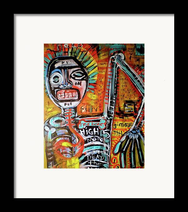 Rwjr Framed Print featuring the painting Death Of Basquiat by Robert Wolverton Jr