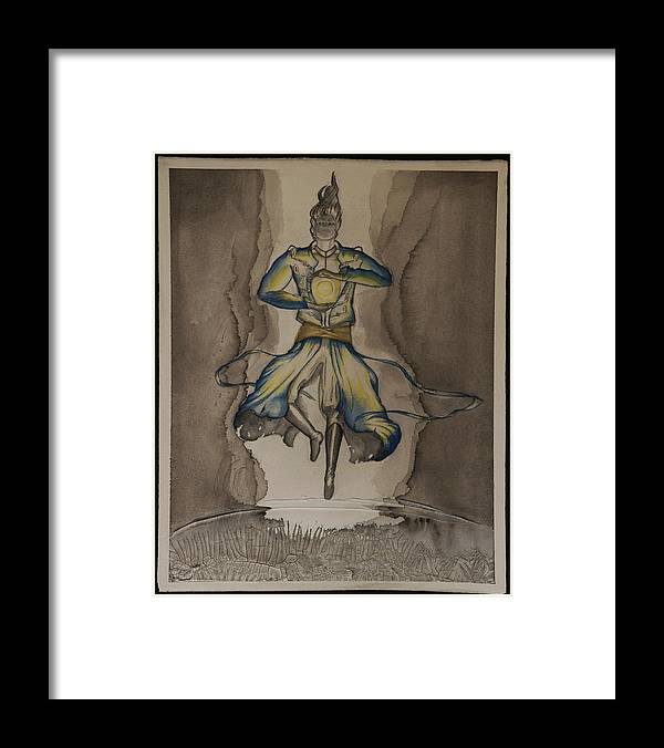 Watercolor Framed Print featuring the painting Death Of The Demon's Law by Matthew Straub