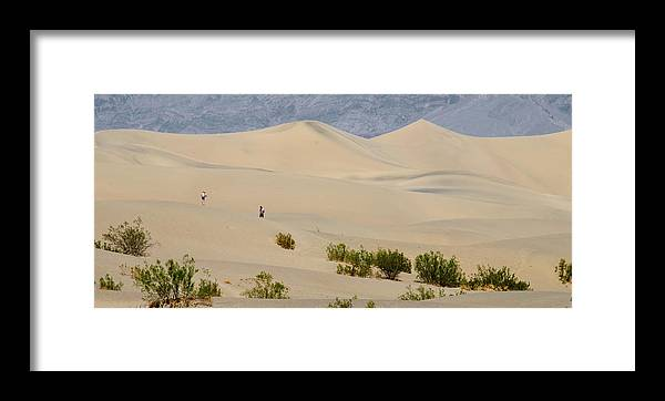 America Framed Print featuring the photograph Death Valley Sand Dunes by Andre Distel