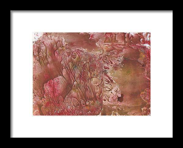 Decalcomanie Framed Print featuring the painting Decalcomanie 1 by Michael Puya