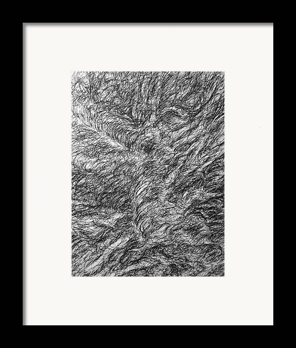 Landscape Framed Print featuring the drawing Decay by Uwe Schein