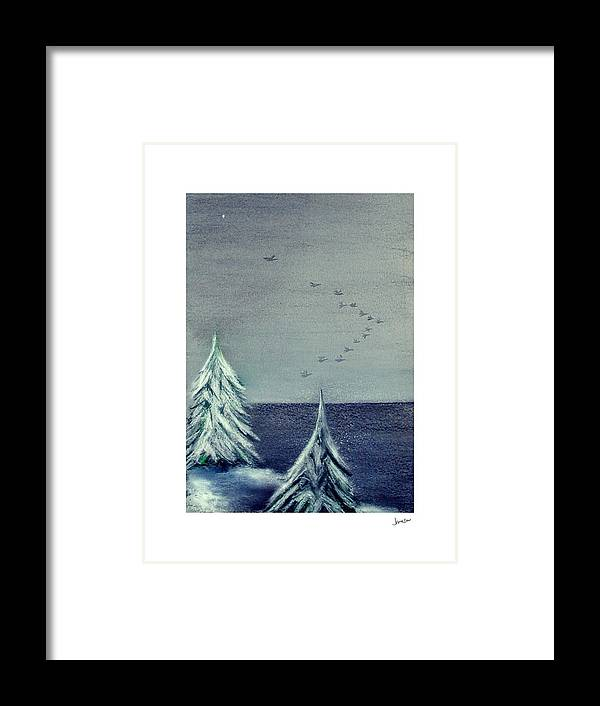 Winter Framed Print featuring the painting December Dawn by Gary Jameson