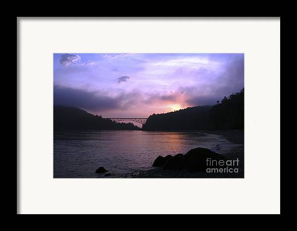 Sunrise Framed Print featuring the photograph Deception Pass Sunrise by Idaho Scenic Images Linda Lantzy