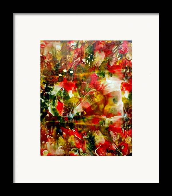 Window Framed Print featuring the painting Deck The Halls by Susan Kubes