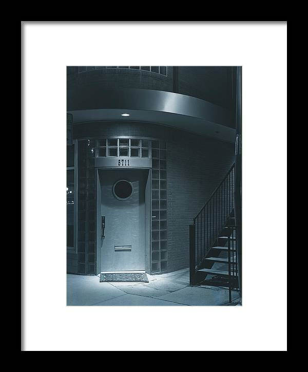 City Framed Print featuring the photograph Deco Details At Midnight by Jim Furrer