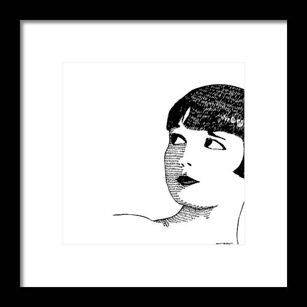 Drawing Framed Print featuring the drawing Deco Women by Karl Addison
