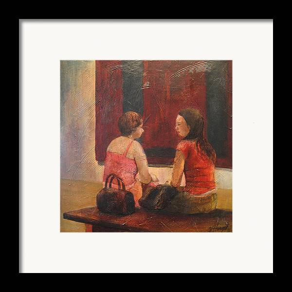 People Framed Print featuring the painting Decontructing The Rothko by Victoria Heryet