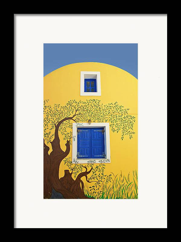 House Framed Print featuring the photograph Decorated House by Meirion Matthias