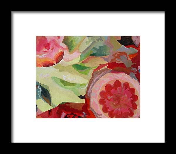Abstract Framed Print featuring the painting Decoupage by Muriel Dolemieux
