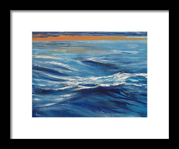 Seascape Framed Print featuring the painting Deep Blue by Pete Maier