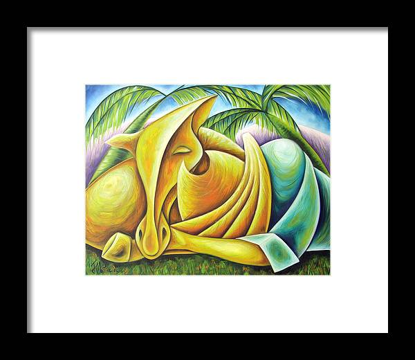 Framed Print featuring the painting Deep Dream by Javier Martinez