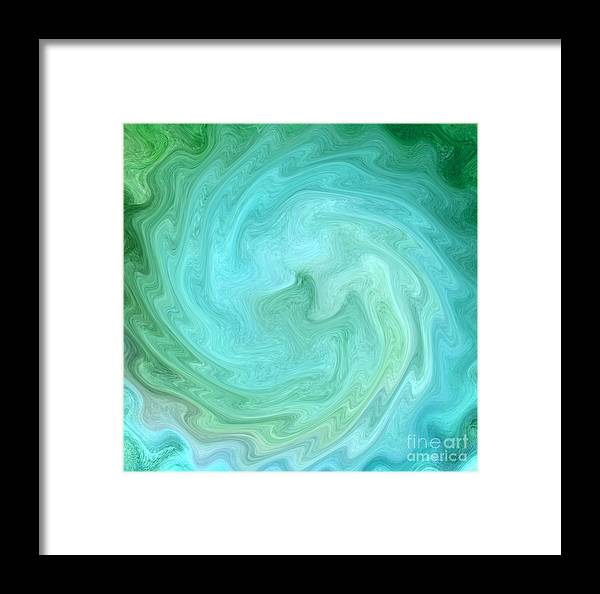 Abstract Art Framed Print featuring the digital art Deep In Serenity by Krissy Katsimbras