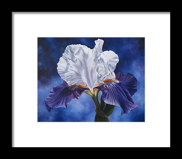 Karlyn Holloway Framed Print featuring the painting Deep Purple Dream by Karlyn Holloway