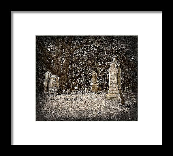 Graveyard Framed Print featuring the photograph Deep Sleep by Scott Ward