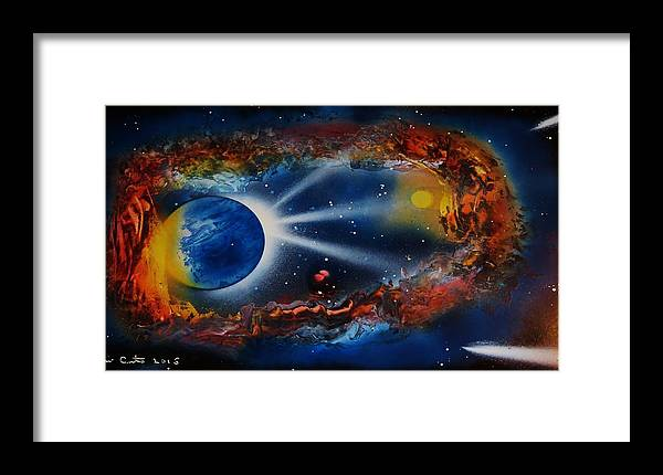 Cavern Framed Print featuring the painting Deep Space Cavern by Mario Carta