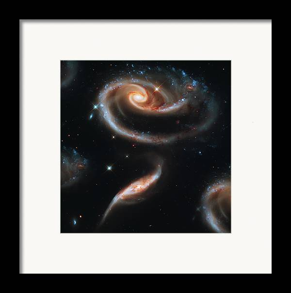Space Framed Print featuring the photograph Deep Space Galaxy by Jennifer Rondinelli Reilly - Fine Art Photography