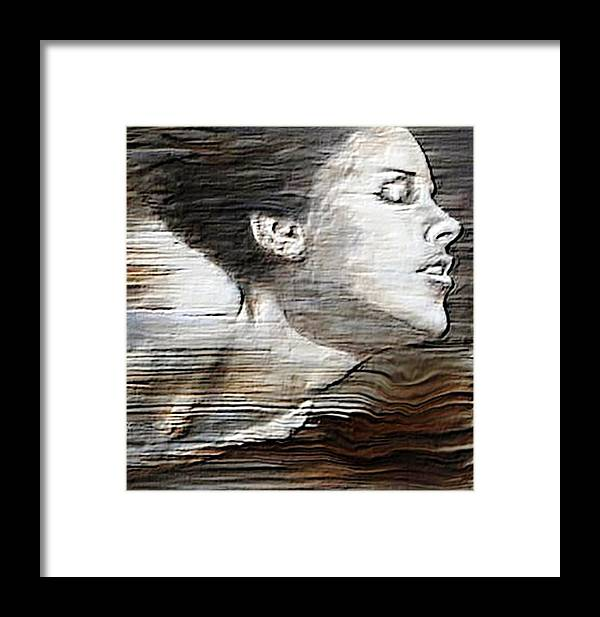 Figurative Framed Print featuring the painting Deep Swim by Manas Roy