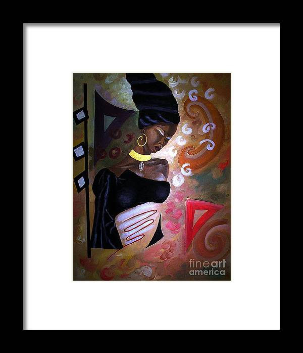 Deep Thought By Pierre Etienne Framed Print featuring the painting Deep Thought By Pierre Etienne by Pierre Etienne