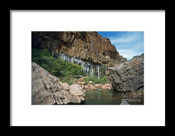 Landscape Framed Print featuring the photograph Deep Water by Kathy McClure