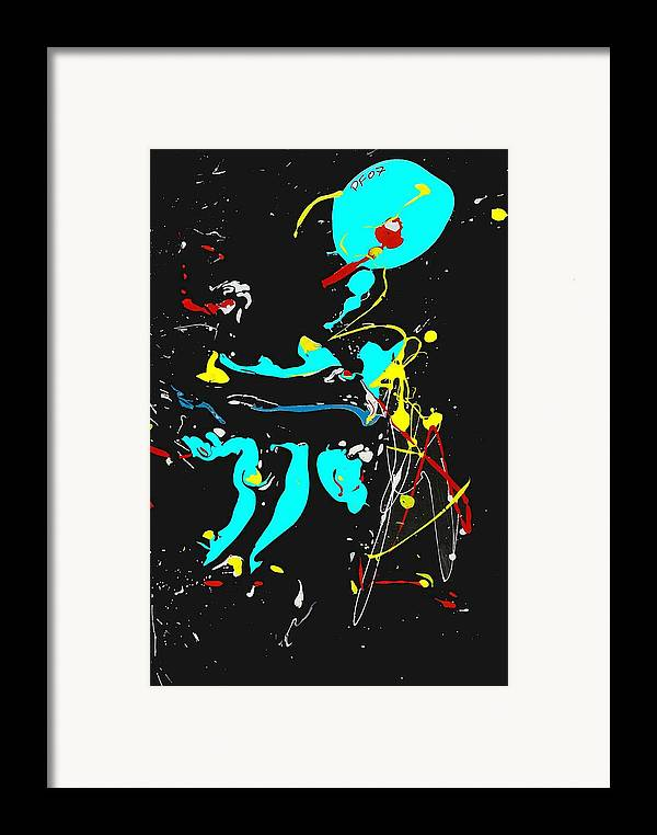 Abstract Framed Print featuring the painting Deep Waters by Paul Freidin