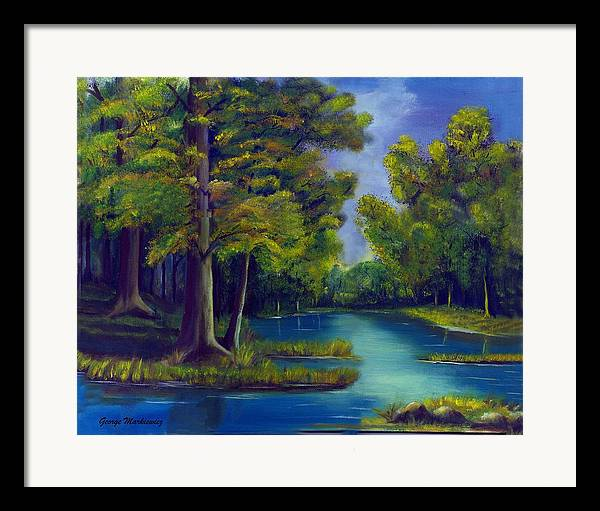 Water Landscape Framed Print featuring the print Deep Woods by George Markiewicz