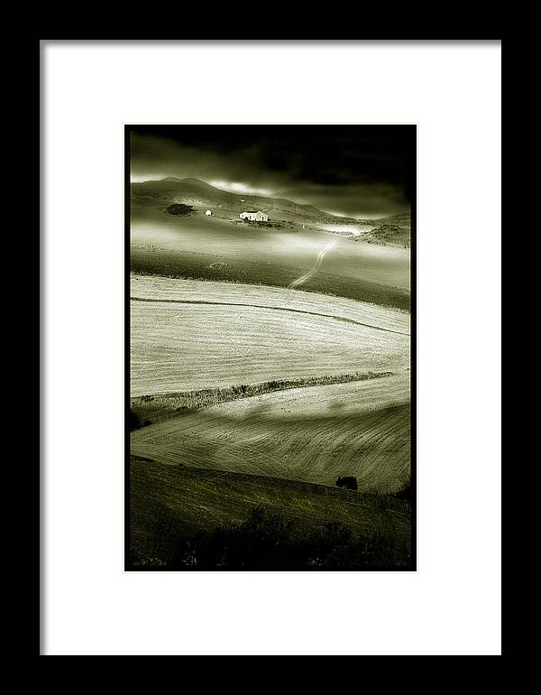 Landscape Framed Print featuring the photograph Deepening Shadows by Mal Bray