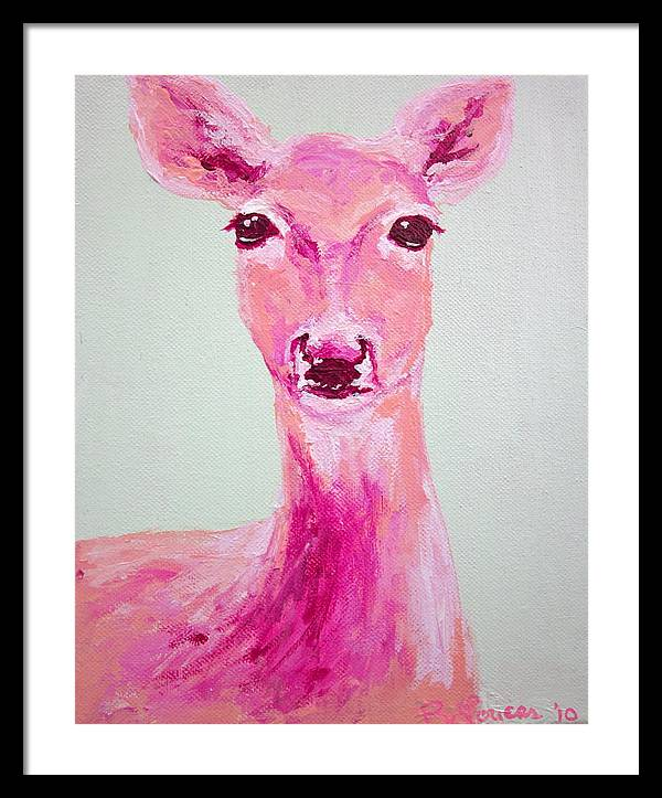 Animal Framed Print featuring the painting Deer by Britta Loucas