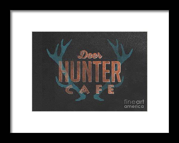 Deer Framed Print featuring the digital art Deer Hunter Cafe by Edward Fielding