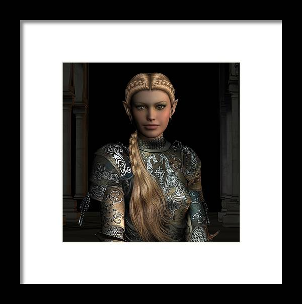 Woman Framed Print featuring the digital art Defender Of The Realm by David Griffith