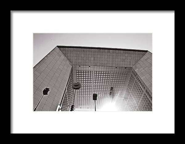 Defense Framed Print featuring the photograph Defense Paris by HazelPhoto